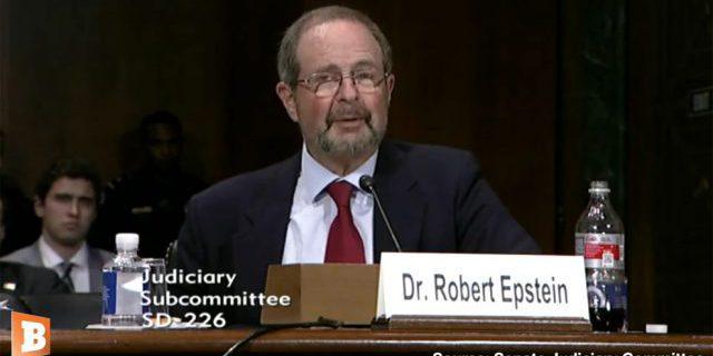 Dr. Robert Epstein Testimony on Google Search Engine Manipulation and Censorship